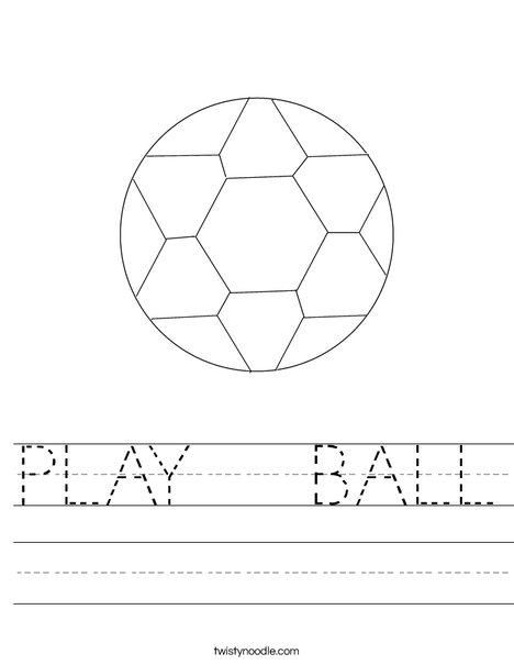 Soccer Ball 4 Worksheet