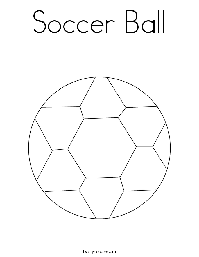 Soccer Ball Coloring Page Twisty Noodle