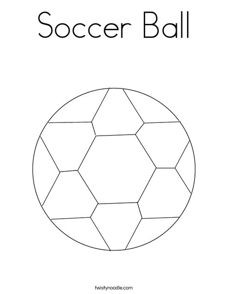 - Soccer Ball Coloring Page - Twisty Noodle