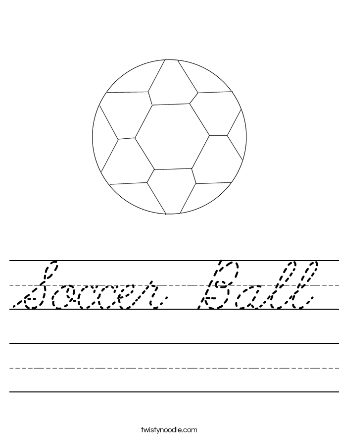 Soccer Ball Worksheet