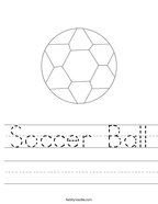 Soccer Ball Handwriting Sheet