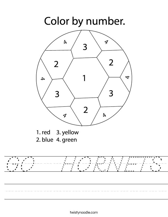 GO   HORNETS Worksheet