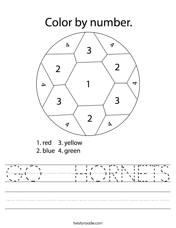 GO   HORNETS Worksheet