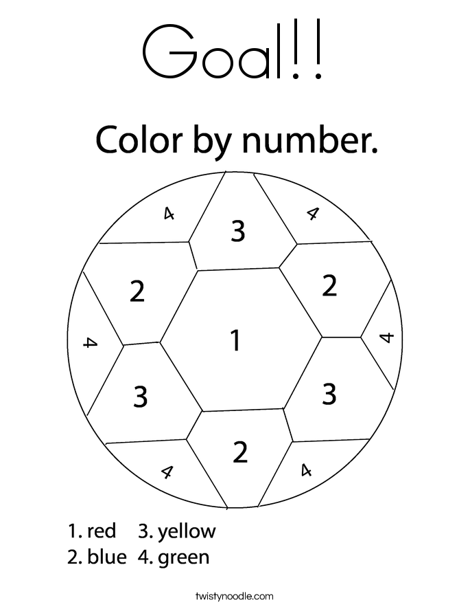 Goal!! Coloring Page