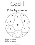 Goal!!Coloring Page
