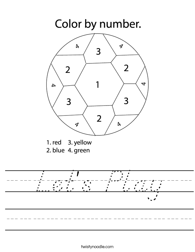 Let's Play Worksheet