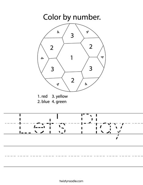 Soccer Ball 5 Worksheet