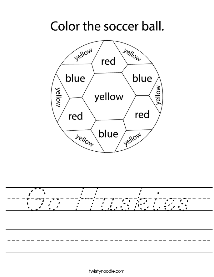 Go Huskies Worksheet