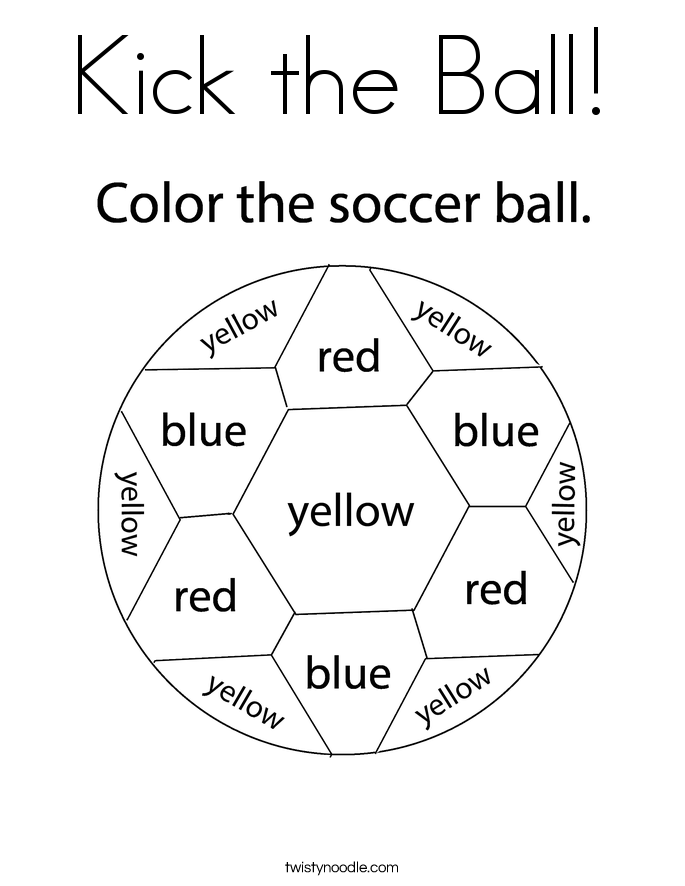 Kick the Ball! Coloring Page