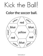 Kick the Ball Coloring Page