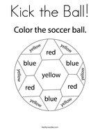 Kick the Ball Coloring Page