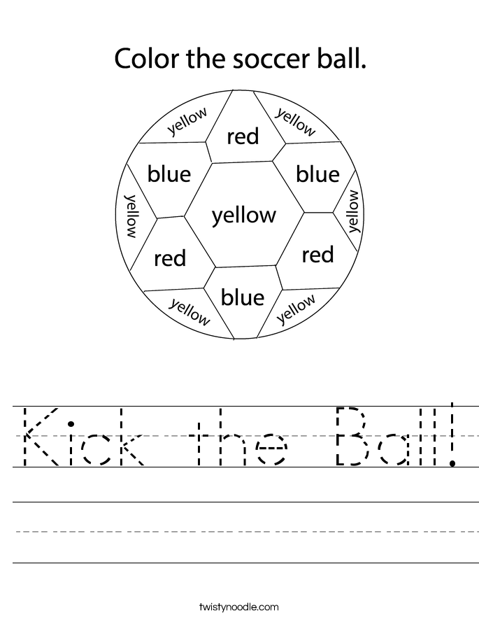 Kick the Ball! Worksheet