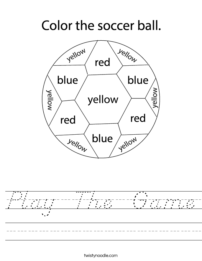 Play  The  Game Worksheet