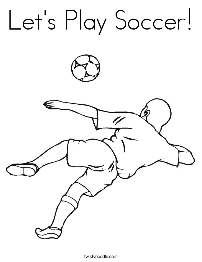 Let's Play Soccer! Coloring Page