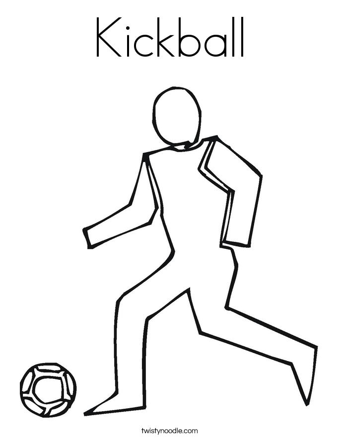 Kickball Coloring Page