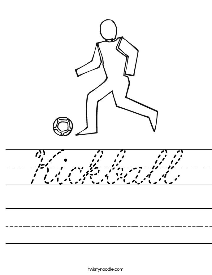 Kickball Worksheet
