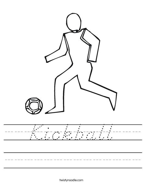 Soccer Player Worksheet