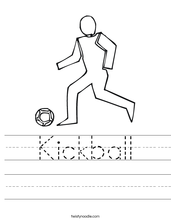 Kickball Worksheet