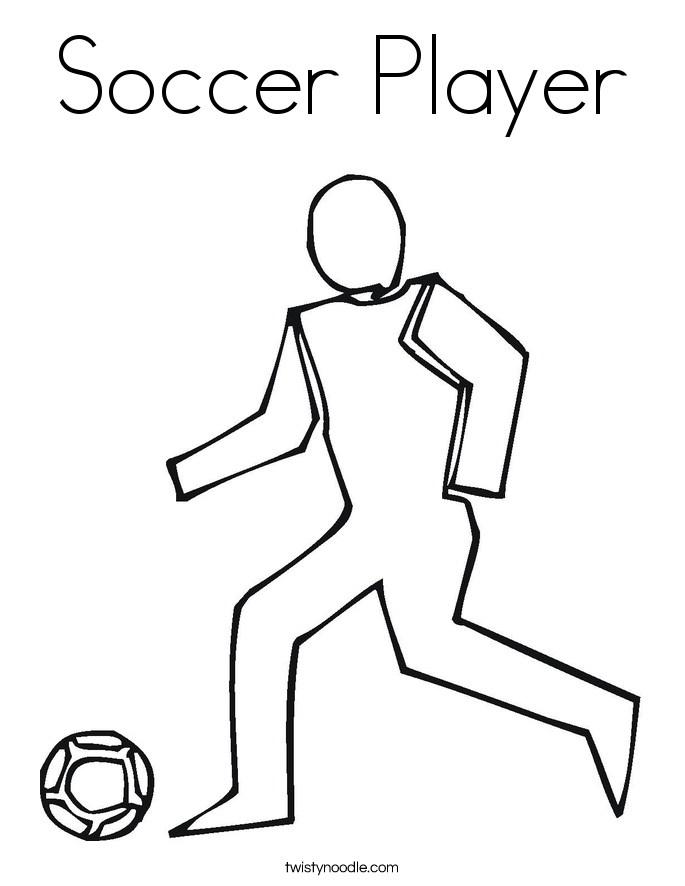 Soccer Player Coloring Page Twisty Noodle