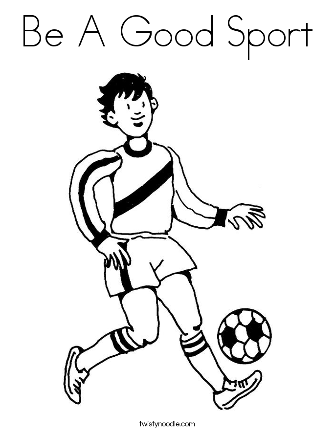 coloring pages sports - be a good sport coloring page twisty noodle