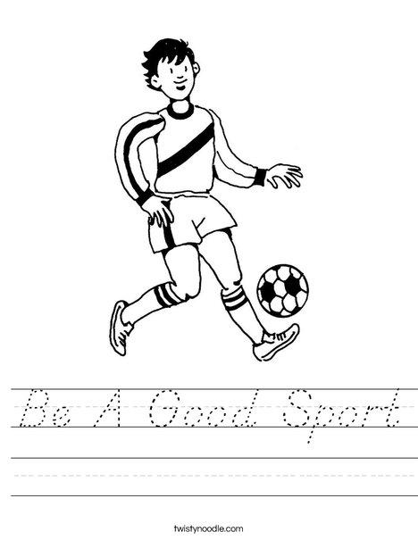 Soccer Player 3 Worksheet