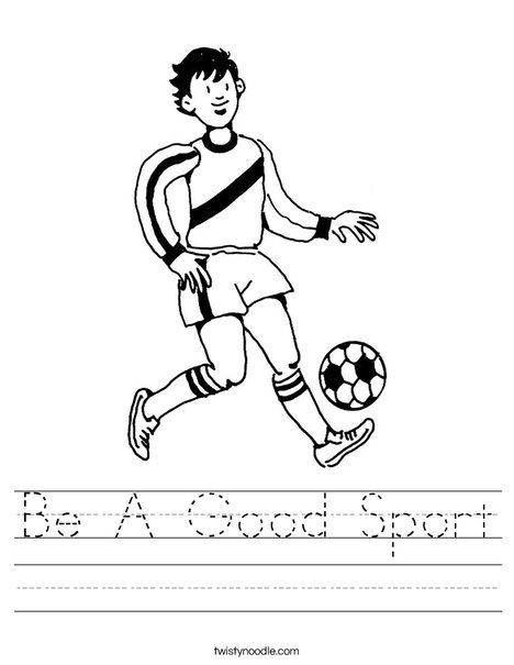 Soccer Player 3 Worksheet
