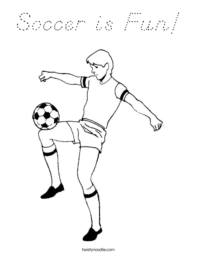 Soccer is Fun! Coloring Page