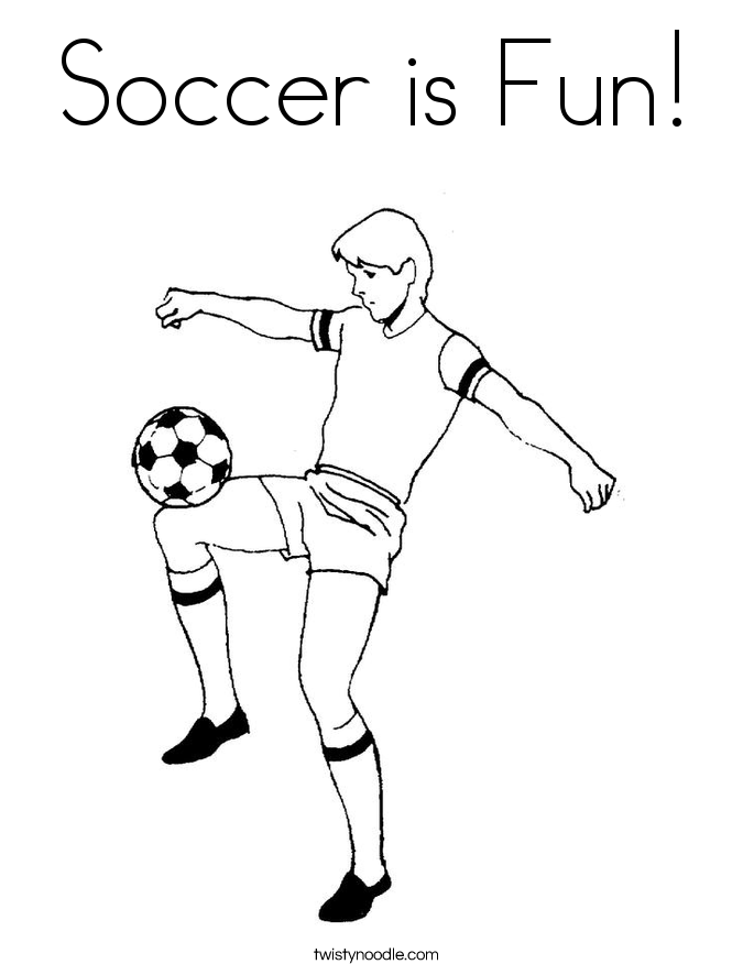 soccer is fun coloring page