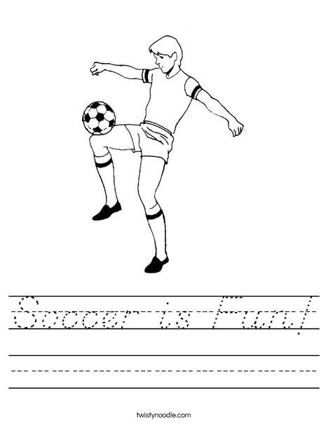 Soccer Player 4 Worksheet