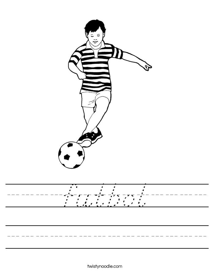 futbol Worksheet