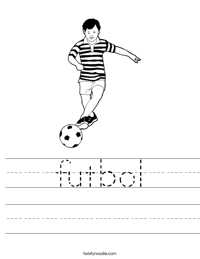 futbol Worksheet
