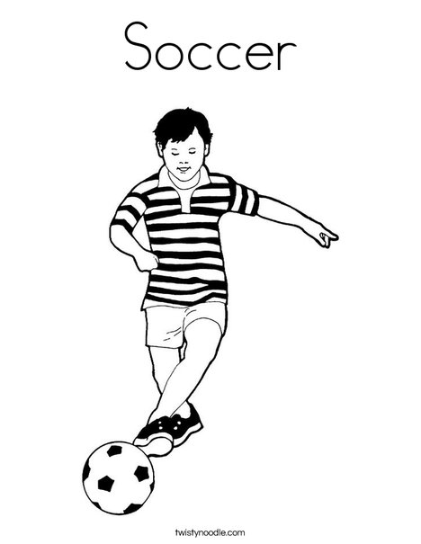 Soccer Player Coloring Page