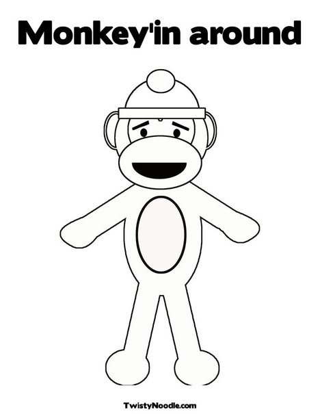 carnival monkey coloring pages - photo#45