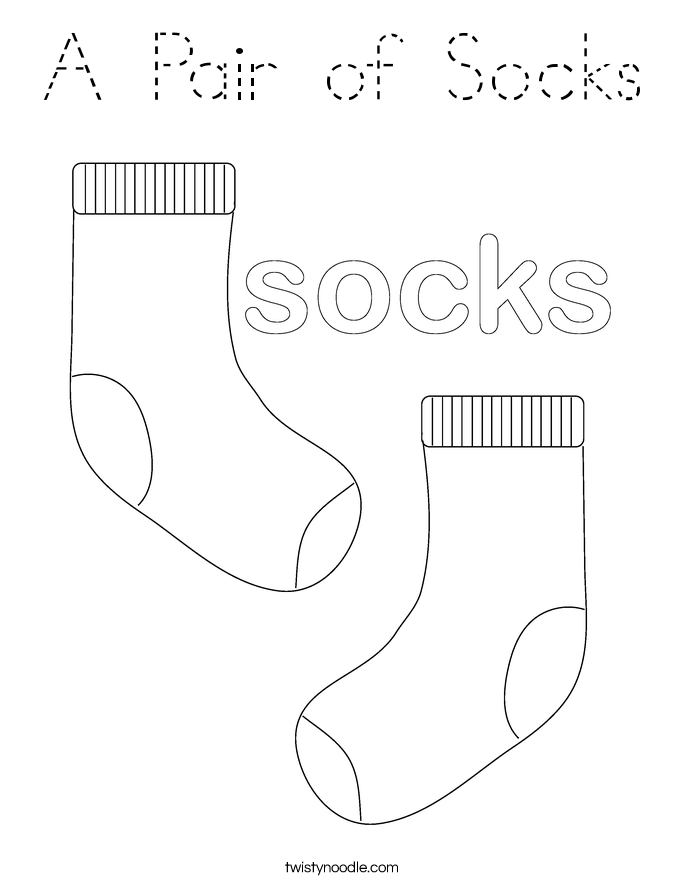 A Pair of Socks Coloring Page