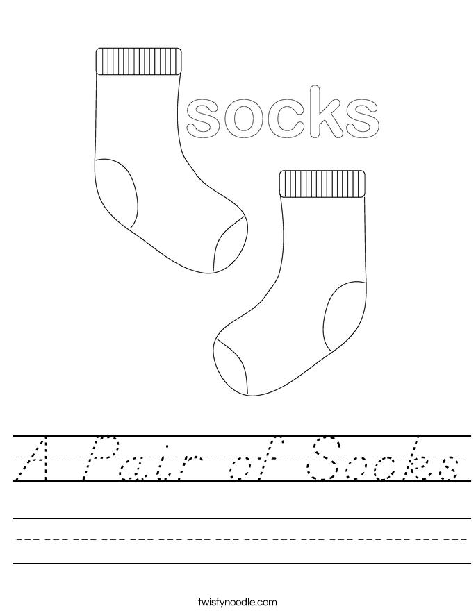 A Pair of Socks Worksheet
