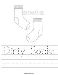 Dirty Socks Worksheet