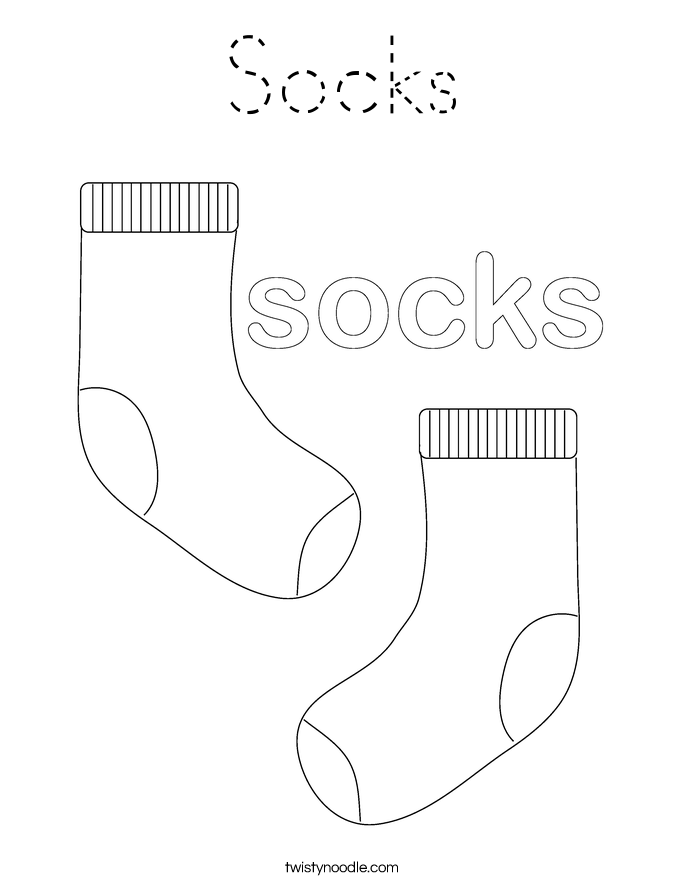 Socks Coloring Page