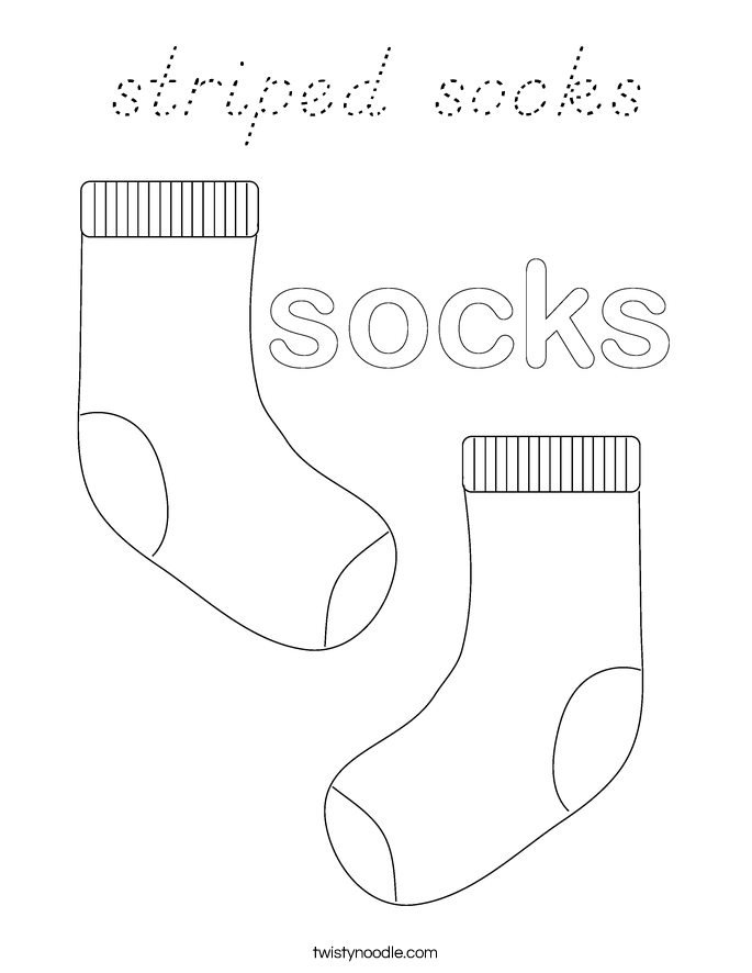 Socks Coloring Page Twisty Noodle Wallpaper