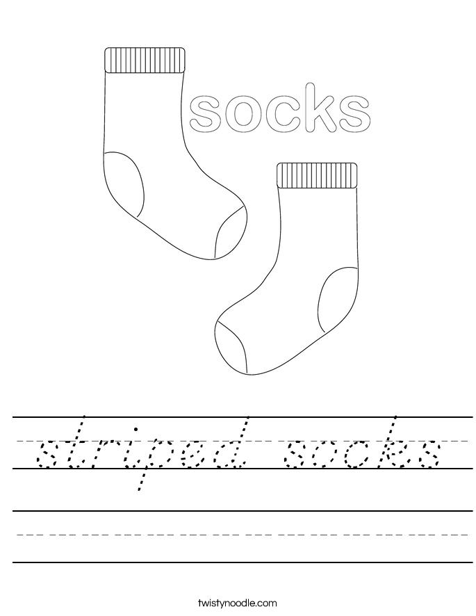 striped socks Worksheet