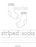 striped socks Worksheet
