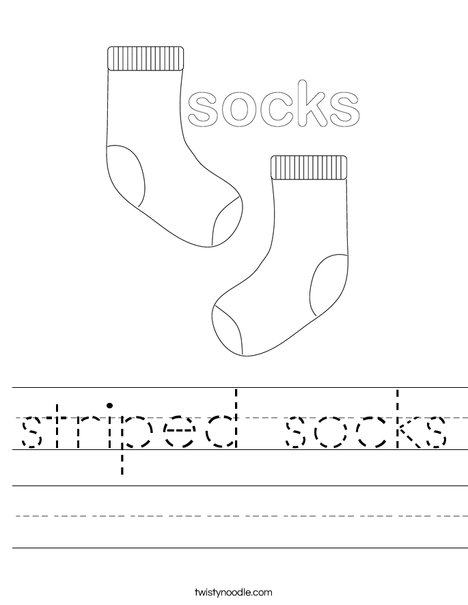 Socks Worksheet