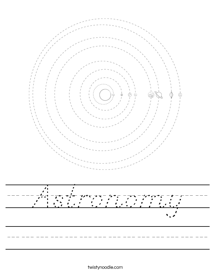 Astronomy Worksheet