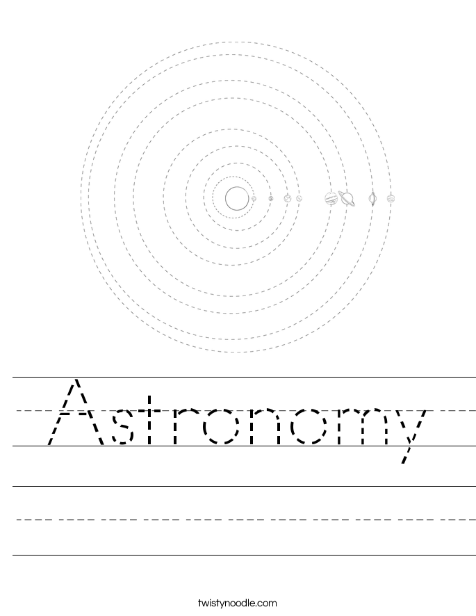 Astronomy Worksheet