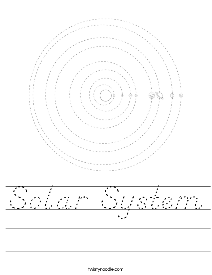 solar system outline printable - photo #4