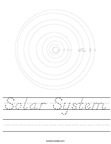 worksheets solar system school - photo #24