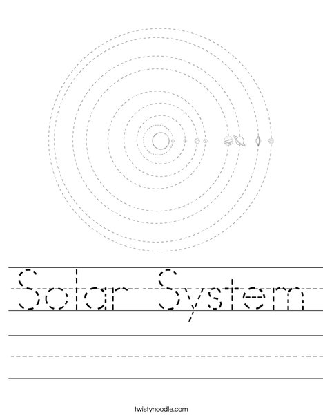 solar system outline printable - photo #17