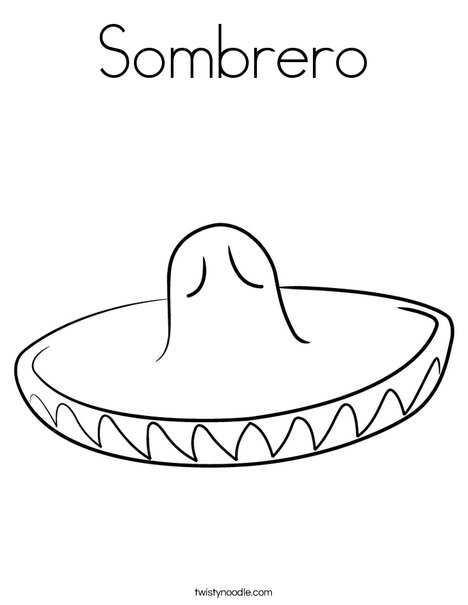 Sombrero Coloring Page - Twisty Noodle