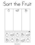 Sort the Fruit Coloring Page