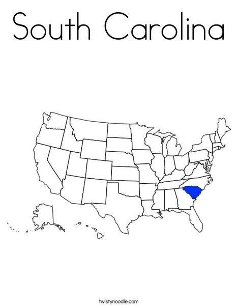 South Carolina Coloring Page