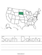 South Dakota Handwriting Sheet
